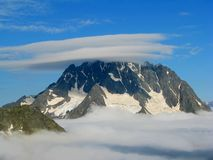 Fogs and clouds. Caucasian mountain, Karachay-Cherkessia,  Arkhyz area, the middle of summer Royalty Free Stock Photography