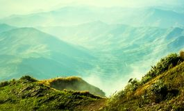 Fogs on the mountain. Looked beautiful in morning, It is the phutabberk mountain in the northern of thailand Royalty Free Stock Photography