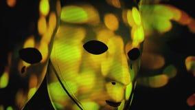 A fogueira assustador das máscaras sparkles bokeh grande filme