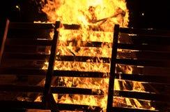 Fogueira do close up no feriado judaico da retardação Baomer Imagem de Stock