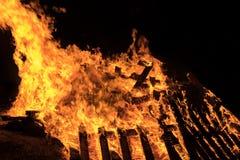 Fogueira do close up no feriado judaico da retardação Baomer Fotografia de Stock