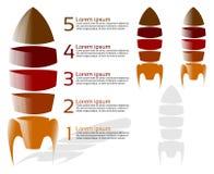 Foguete de cinco fases infographic Imagem de Stock