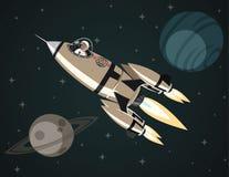 Foguete de espaço no espaço aberto Fotos de Stock Royalty Free