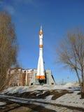 Foguete de Soyuz no Samara, Rússia fotografia de stock