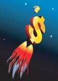 Foguete do dólar ilustração do vetor