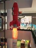 Foguete enorme feito de LEGO Imagens de Stock Royalty Free