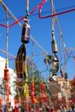 Foguetes da pólvora dos fogos-de-artifício de Spain Imagem de Stock
