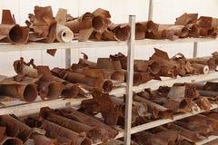 Foguetes explodidos em Sderot Fotografia de Stock