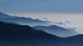 Fogy day in the Himalayas Stock Photo