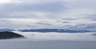 Fogy Day on the Lake stock photos