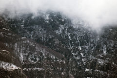 Fogy mountainside Royalty Free Stock Images