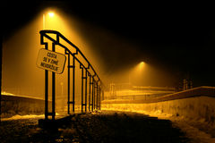 Fogy road Royalty Free Stock Photography