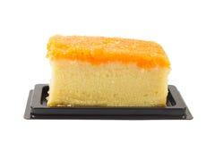 Foi在白色背景隔绝的皮带蛋糕 免版税图库摄影