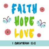 Foi, espoir, amour Images stock