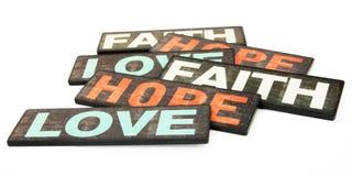 Foi, espoir et amour Photographie stock
