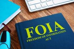FOIA-Vrijheids van Informatie Akte boek stock fotografie