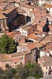 Foiano i landskapet av Arezzo i Tuscany Arkivbild