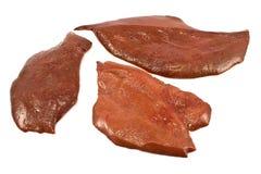 Foie cru de porc Photos libres de droits