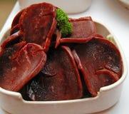 Foie de porc cru Photographie stock