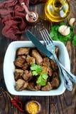 Foie frit photos libres de droits