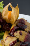 Foie gras. On white plate stock image