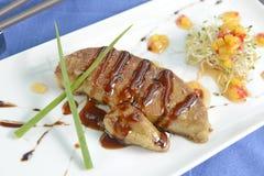 Foie gras, ein köstlicher Teller Stockfotos