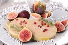 Foie gras and fig Royalty Free Stock Photo