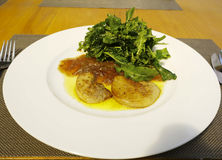 Foie gras fritto Fotografia Stock Libera da Diritti
