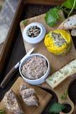 Foie gras och fransk pate Arkivfoto