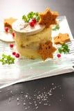 Foie gras och mosad potatis arkivfoton