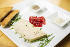 Foie gras pate starter Royalty Free Stock Photography