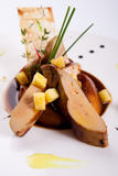 Foie gras with pineapple Royalty Free Stock Images