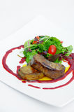 Foie gras salad Royalty Free Stock Image