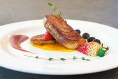 Foie gras salad Stock Image