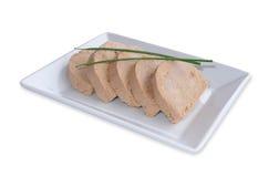 Foie gras served sliced Stock Image