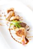 Foie gras som grillas royaltyfri bild
