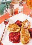 Foie gras on a table Stock Photo