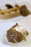 Foie gras with truffles Royalty Free Stock Photography