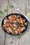 Foie rôti de poulet Photo libre de droits