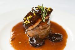 Foie round steak Stock Photography