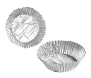 Foil baking cup Royalty Free Stock Images