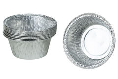 Foil cups Royalty Free Stock Photo