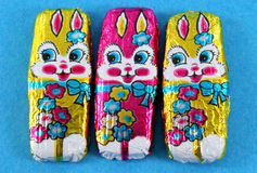 Foil Easter Bunnies Royalty Free Stock Image