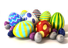 Foil Easter Egg Collection Stock Images