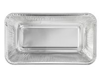 Foil food container tray with blank Royalty Free Stock Photo