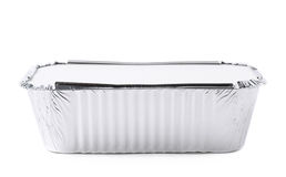 Foil Food Delivery Container Isolated Stock Photography