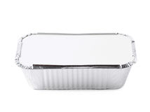 Foil food delivery container isolated. Over the white background Royalty Free Stock Photos