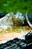 Foil grilled salmon Stock Images