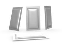 Foil heat sealed packet with clipping path Royalty Free Stock Images