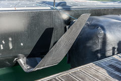 Foil on a high performance monohull Royalty Free Stock Photo